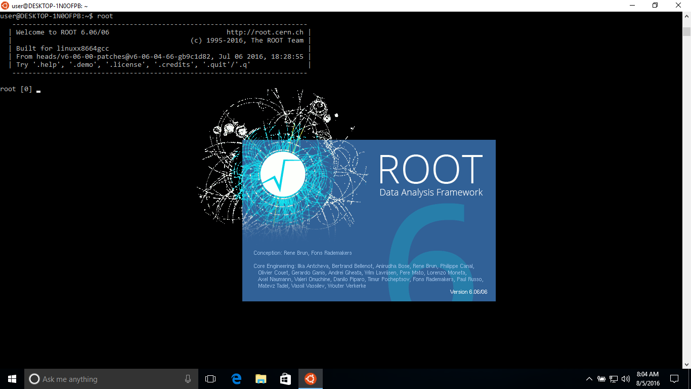Installing Root on Windows 10 - ROOT - ROOT Forum